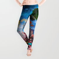 collage Leggings featuring collage by Baptiste Riethmann