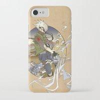 kakashi iPhone & iPod Cases featuring Woodblock Kakashi by Sempaiko