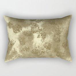 Golden Sequin Design Rectangular Pillow