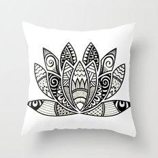 Tangled Lotus Throw Pillow