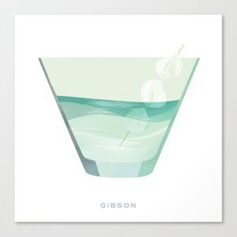 Cocktail Hour: Gibson Canvas Print