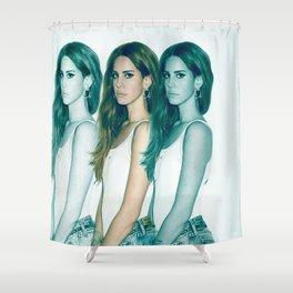 Lana - Blue Jeans, White Shirt Shower Curtain