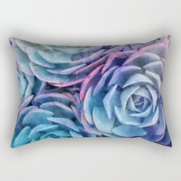 electric succulents Rectangular Pillow
