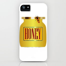 Honey Pot And Bee iPhone Case