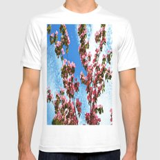Sky/Flowers Mens Fitted Tee White MEDIUM