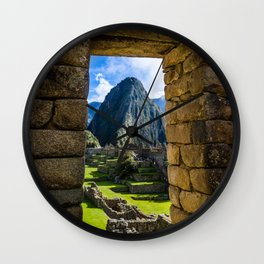 Doorways of Machu Picchu Wall Clock