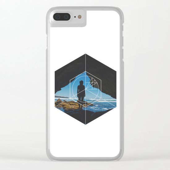 Paradise Cove Girl - Geometric Photography Clear iPhone Case
