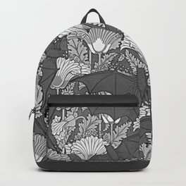 VINTAGE GREY BATS & WHITE LILIES Backpack