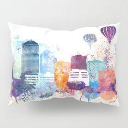 Colorful Albuquerque skyline design Pillow Sham