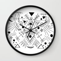 hocus pocus Wall Clocks featuring Just a Little Hocus Pocus  by NicoleLaFleur