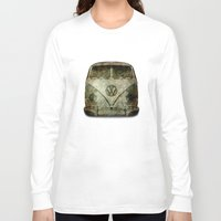 vw bus Long Sleeve T-shirts featuring VW Micro Bus  by BruceStanfieldArtist illustrator