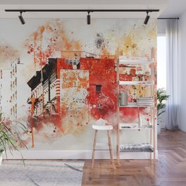 NYC Watercolor Collection - Manhattan Architecture Wall Mural