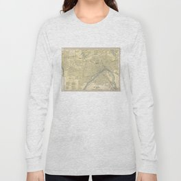 Vintage Map of St. Paul Minnesota (1891) Long Sleeve T-shirt