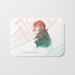 Amelia Earhart Courageous Adventurer Bath Mat
