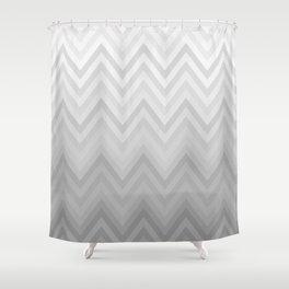 Chevron Fade Grey Shower Curtain