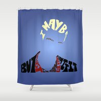 buffy Shower Curtains featuring Spike - Buffy the vampire slayer by Rebecca McGoran