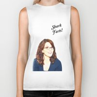 valar morghulis Biker Tanks featuring Shark Farts by beatrice