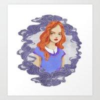 lydia martin Art Prints featuring Lydia Martin by strangehats