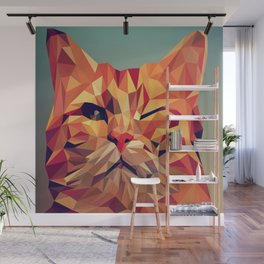 Geometric cat 2 Wall Mural