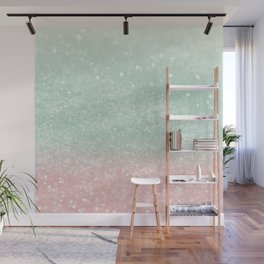 Pastel Summer Glitter #1 (Faux Glitter - Photography) #shiny #decor #art #society6 Wall Mural