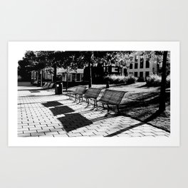 Benches Art Print