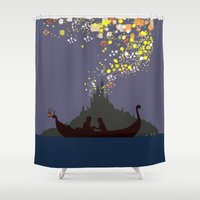 tangled Shower Curtains featuring Tangled by TheWonderlander