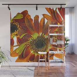 Orange Studio Flowers Photograph Wall Mural