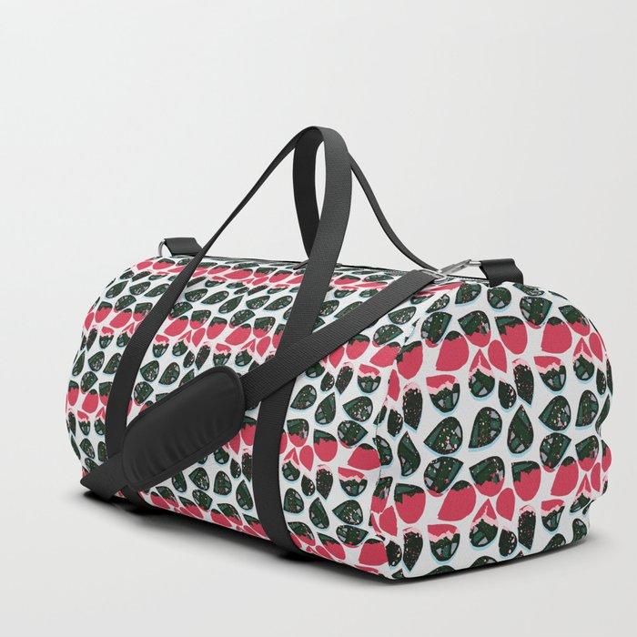Echo Pattern | Green&Red Duffle Bag