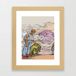 stick em up Framed Art Print