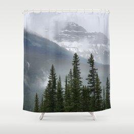 Misty Mountain Top Shower Curtain