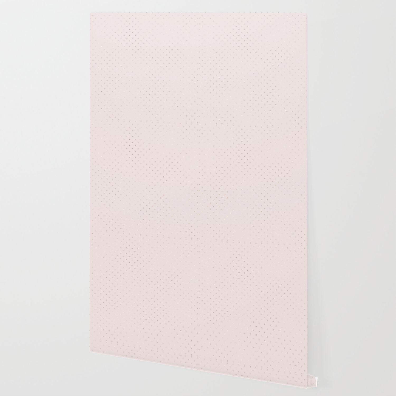 Trendy Girly Blush Pink Rose Gold Glitter Polka Dots Wallpaper