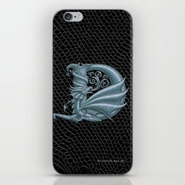 Dragon Letter D, from Dracoserific, a font full of Dragons. iPhone Skin