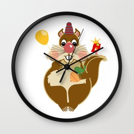 Mr Squirrel Wall Clock