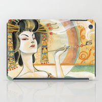 gustav klimt iPad Cases featuring Klimt Oiran by Sara Richard
