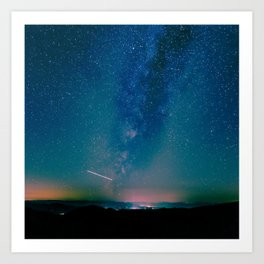 Desert Summer Milky Way Art Print