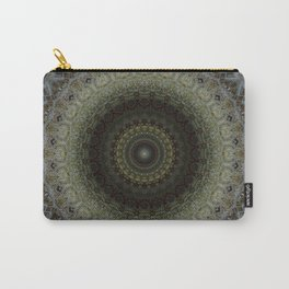 Detailed mandala in green and blue tones Carry-All Pouch
