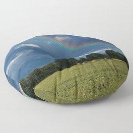 Living in the rainbow land Floor Pillow