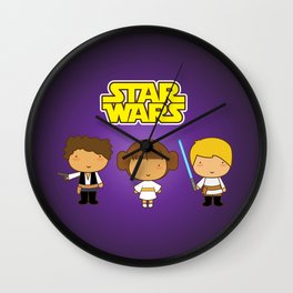Star Wars Trio Wall Clock