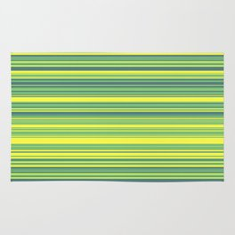 Yellow Lime Candy Lines Rug