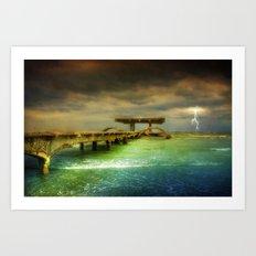 Sea @ Storm Art Print