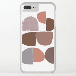 minimalist collage 06 Clear iPhone Case