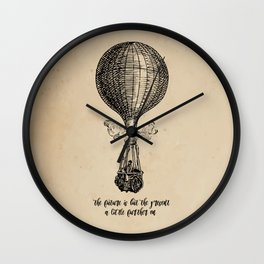 Jules Verne - The future is but the present Wall Clock