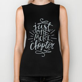 Book Nerd One More Chapter Teal Biker Tank