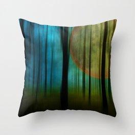 Full Moon Forest Throw Pillow