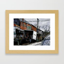 Kensington Market Delivery Framed Art Print
