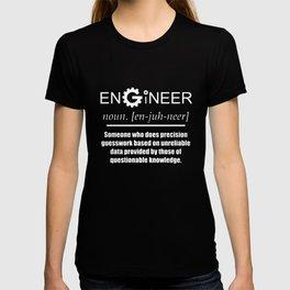 Engineer Noun Cog Design Funny Novelty Job Title Mens Engineer T-Shirts T-shirt