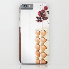 Cherries and eggs iPhone 6s Slim Case