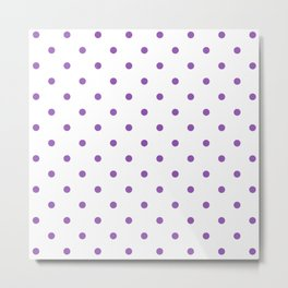 Polka Dots Pattern: Purple Metal Print