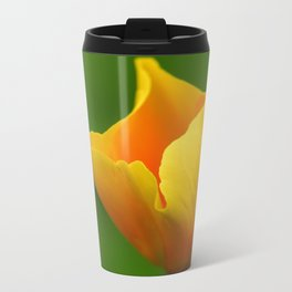Glowing Yellow Metal Travel Mug