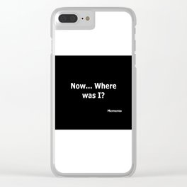 Memento quote Clear iPhone Case